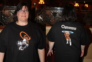 2015 at-con t-shirt featuring Portal art