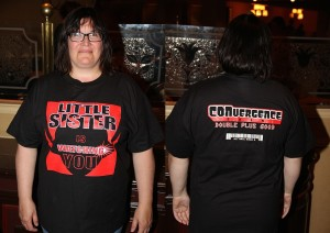 "CONvergence 2015 At-con T-Shirt, ""LITTLE SISTER IS WATCHING YOU"""