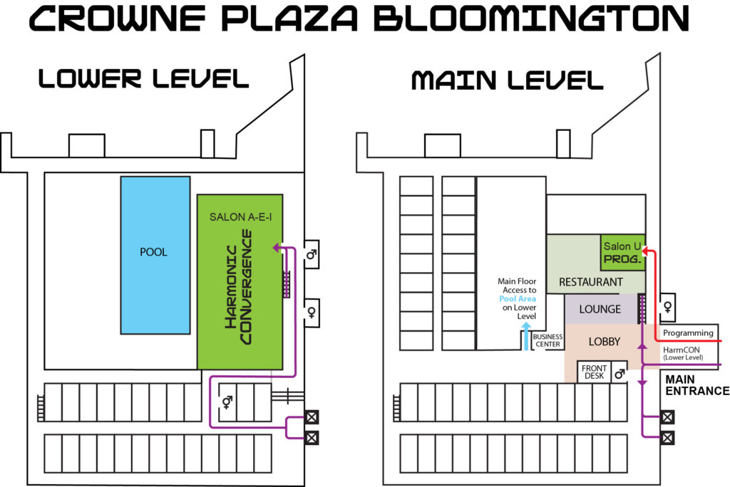 Crowne Plaza function space map for CONvergence 2016