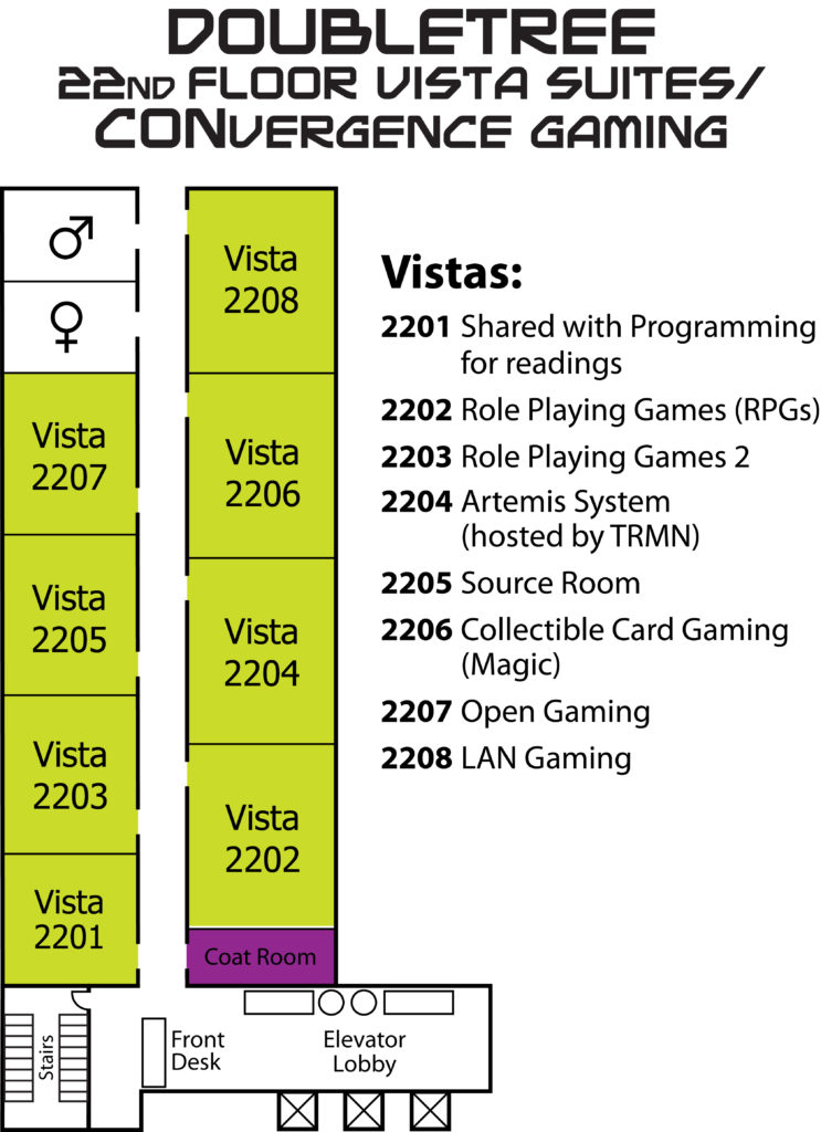 CVG 2016 - DoubleTree 22nd Floor Map