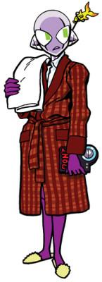 Connie as Arthur Dent