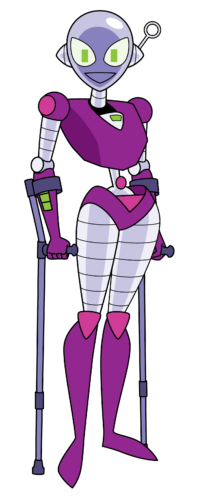 Connie with Crutches