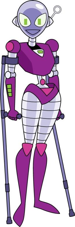 Connie using crutches