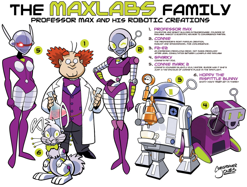 All the CONvergence characters, the Maxlabs family
