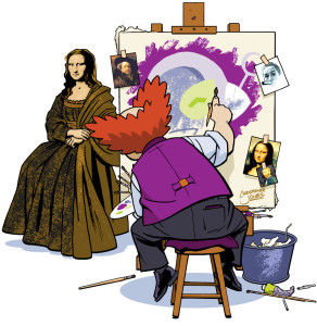 Prof painting Connie Lisa