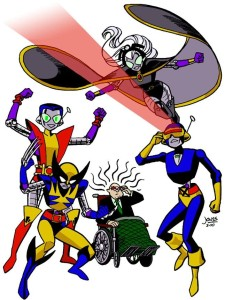 CONvergence mascots as the X-Men