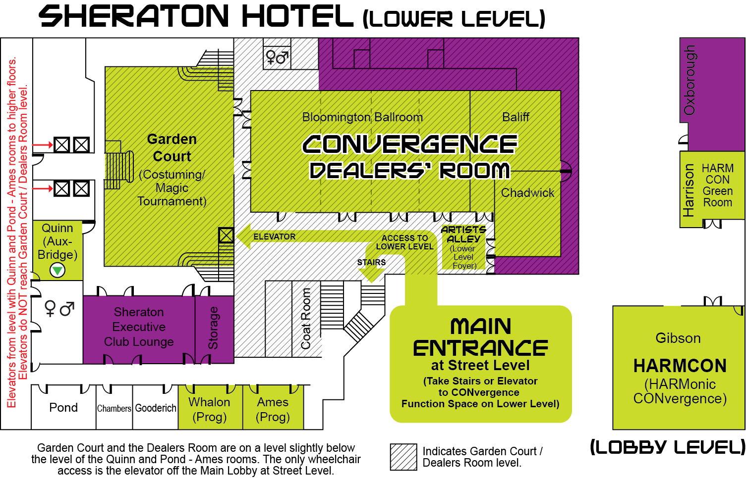 2017 Sheraton Map | CONvergence Convention