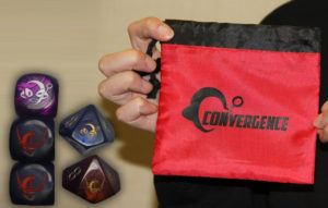 CONvergence dice and dice bag in one image
