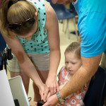 Child being fingerprinted during KidsID Event