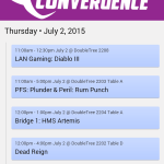 CONveregnce 2015 Schedule App Screenshot