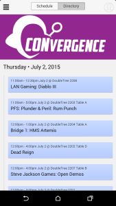 CONveregnce 2015 Schedule App Screenshot