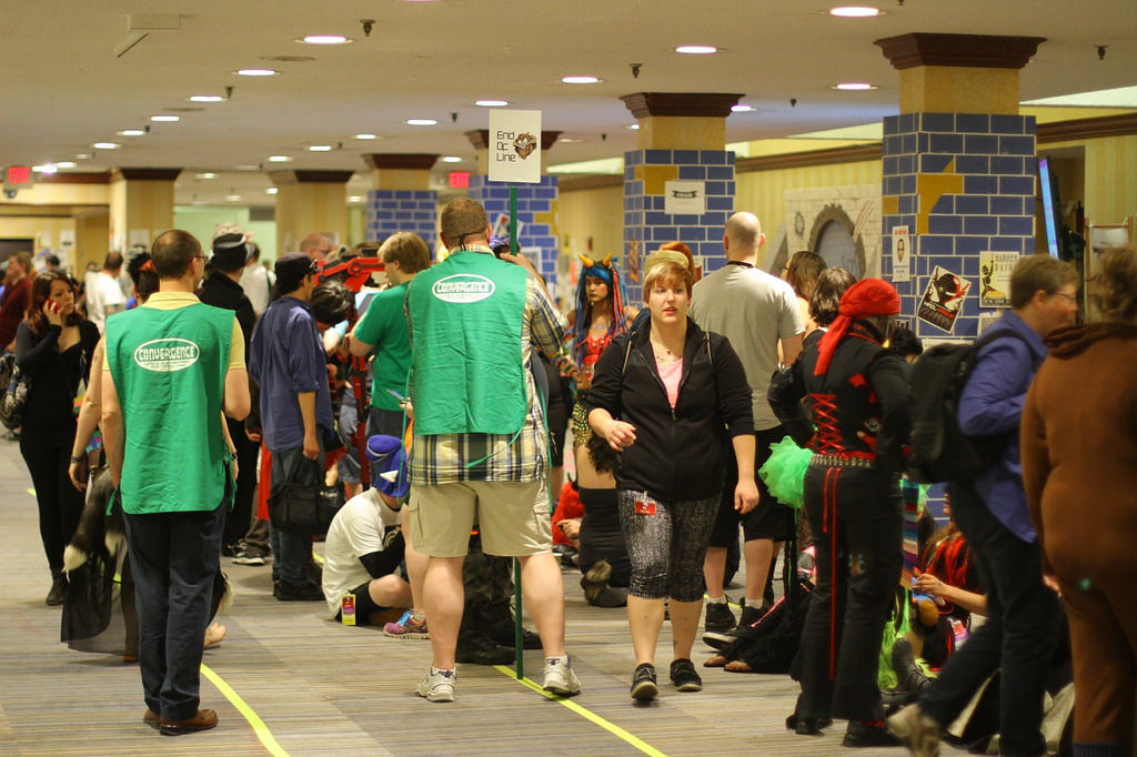 Nerf Herders managing the line at CONvergence 2015