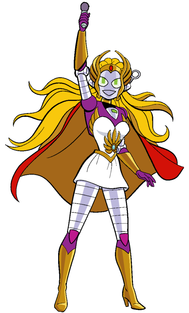 Connie as She-Ra with Mic - COLOR