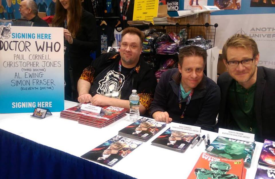 Christopher Jones and Paul Cornell signing their Doctor Who Comic at NYCC