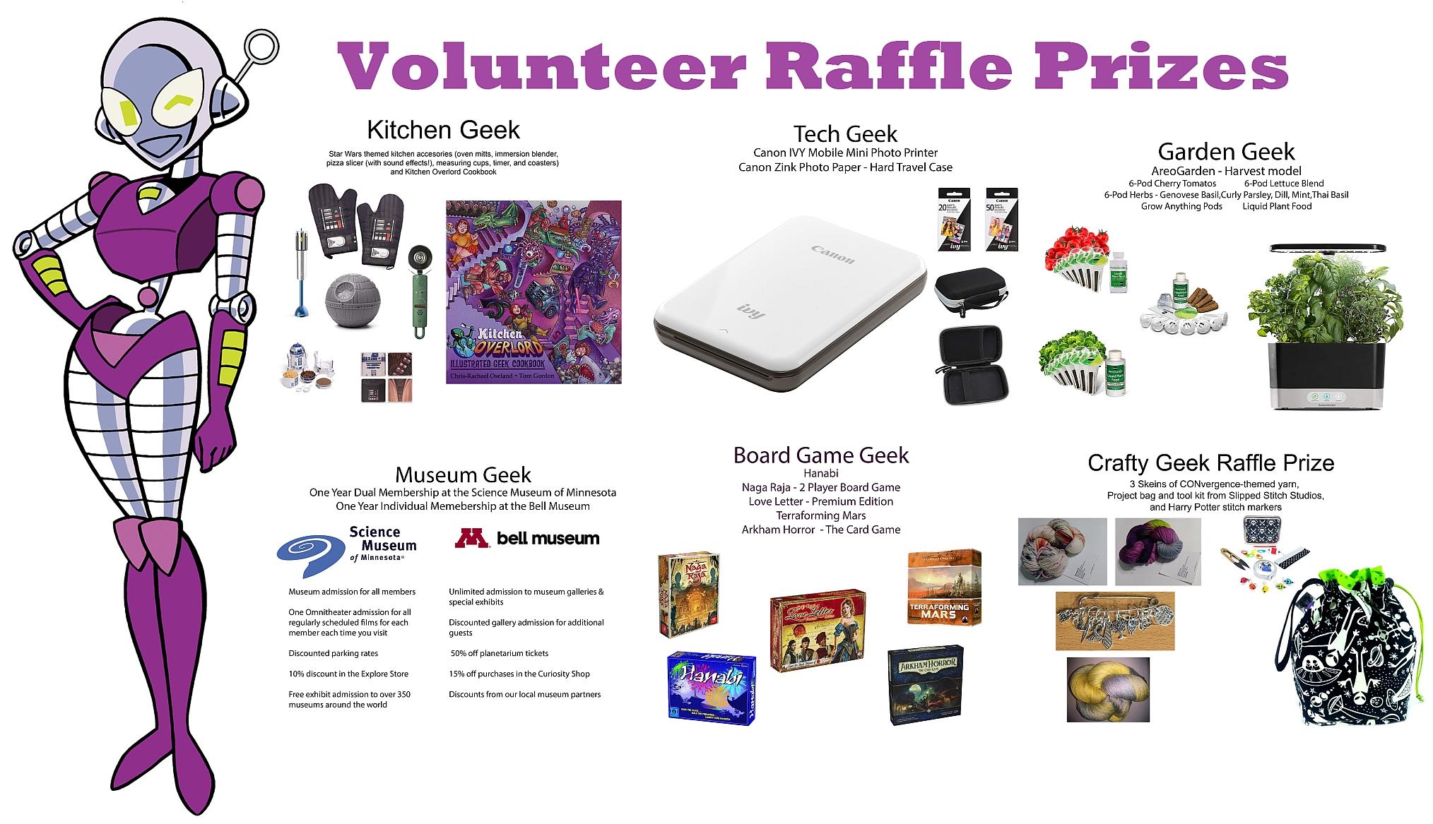 Volunteer Raffle | CONvergence Convention